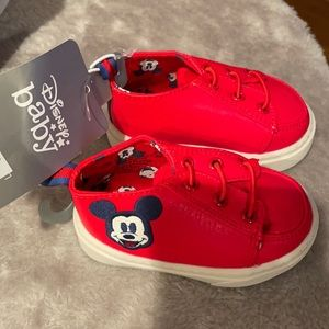 Disney faux Mickey Mouse sneakers 6-12 months